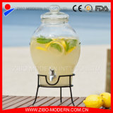 Home Storage Glass Beverage Dispenser with Tap