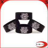 2015 Cheap Qr Code Printing Silicone Bracelet