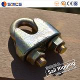 Yellow Zinc Malleable Steel DIN1142 Wire Rope Clips