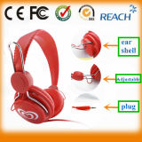 Bright Color Adjustable Headphone Super Bass Headphone with Logo