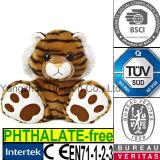 EN71 Gift Cotton Soft Stuffed Animal Plush Toy Tiger