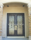 Exterior Position Wrought Iron Door/ Glass Door