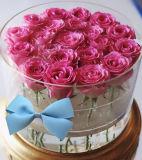 Wholesale Round Acrylic Flower Packaging Box Luxury