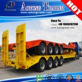 Heavy Duty Transporter Loader 4 Axles Low Bed Truck Trailer