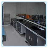 Floor Type Fixed with Sink and Faucet Chemistry Lab Bench