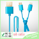 Wholesale 2 in 1 Zipper USB Cable for Data Transfer and Charging