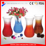Wholesale Colors Spraying Glass Vase with Different Kinds