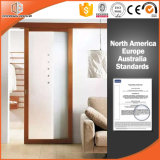 Grille Design Solid Wood Sliding Door for High-End Villa, Solid Wood Barn Interior Door, Durable Lifting Wheel Door, Sliding Door with Top Track
