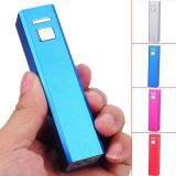 Mini banco 2200mAh/2600mAh de Portable Power, Square Lipstick Backup Battery Charger