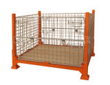 Warehosue Foldable Steel Wire Mesh Storage Cage