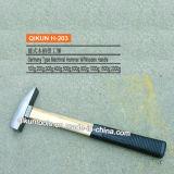 H-203 Construction Hardware Hand Tools Plastic Coated Hardwood Handle German Type Machinist′s Hammer