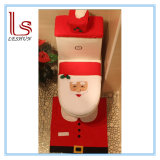 Christmas Bathroom Decoration/Gift Three-Piece Suit Santa Claus Toilet Seat Cover and Rug