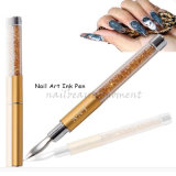 Nail Art Beauty Ink Pen with 5 Dotting Manicure Tools (B039)