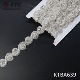 Wholesale High Quality Handmade Crystal Beaded Rhinestone Trim for Wedding Dress Decoration