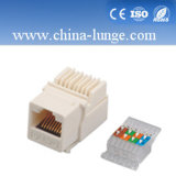 RJ45 CAT6 Keystone Jack with 180 Degree, RJ45 Connector