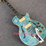 Pango Music Lp Standard Electric Guitar with F Hole, Bigsby, Quilted Maple (PLP-055)