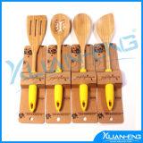4 Piece Kitchen Utensil Cooking Wood Spatula Spoon Set