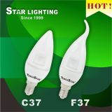 Hot Sale 6W Tailed F37 SMD LED Candle Light