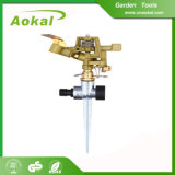 Garden Sprinkler Gun Plastic Metal Impulse Sprinkler with Spike