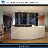 Pure White Beauty Salon Cusotmized Design Reception Desk