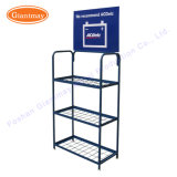 Wholesale 3 Tier Cheap Metal Wire Floor Auto Battery Storage Display Stand Rack