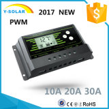New-PWM 10A/20A/30A 12V/24V-Auto Backlight-Function Solar Controller Z10
