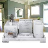 7PCS Marble Acrylic Bathroom Organizer for Hotel Supply