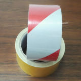 Red / White Stripe Reflective Film for Truck Safety Warning Tape