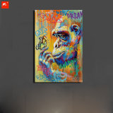 Gorilla and Butterfly Canvas Painting