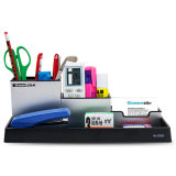 Metal Combination Pencil Holder for Desktop Stationery and Accessories Storage