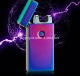 Front Button Colorful Charge USB Double Arc Lighter