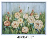 Handpainted Planked Wood Flower Decorative Art (Item#811701103)