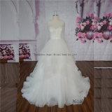 Understated Purely Manual Heavy Beaded Organza Ball Wedding Dress Beading