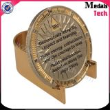 Gold Plated Soft Enamel Customized Challenge Coin with Holder