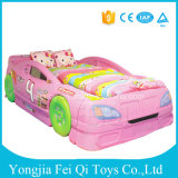 Lovely Children Bed Creative Pine Wood, Car Bed, Cartoon Nap Bed, a Single Bed Luxury Green Pine Wood
