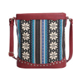 Bohemia Exotic Canvas Women Messenger Bags (MBNO042091)