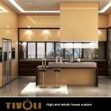 Varnish Painting Luxury Kitchen Cabinets Wholesale Home Furniture for Villas Tivo-074VW