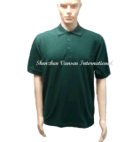 Dark Green Short Sleeve Male Polo Shirt