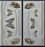 Fashion Gold Temporary Butterfly Tattoo Stickers Art Tattoo