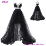 Ladies Popular Evening Dress A Line Evening Party Flowers Prom Dresses Tulle Long Evening Gown