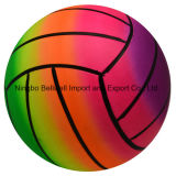 Eco Friendly PVC Color Changing Custom Printed Rainbow Volleyball Beach Ball