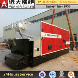 Horizontal Style Paddy Rice Husk Fired Hot Water Boiler
