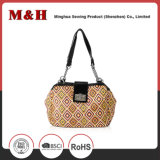 Fashion PU Women Bag in Brown Color O Bag Handles