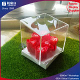 Transparent Acrylic Carved Flower Vase Display Box