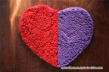 Lovely Heart Love Shaped Chenille Bathroom Door Kitchen Mat