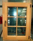 New Design Casement Style Wood Window with Aluminum Mask