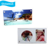 Glass Photo Clock for Sublimation 300X160X5mm
