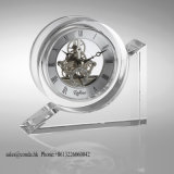 Glass Crystal Clock for Table Decoration Office Appliance M-5054