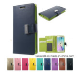 Mobile Phone Accessory OEM Luxury Leather Case Mercury for Samsung S5/S6/S7 Cell Phone Cover Case