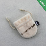 Customized Good Quality off-White Small Draw String Jewelry Bag